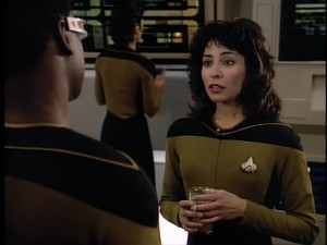 Lycia Naff as Ensign Sonya Gomez in Star Trek: The Next Generation