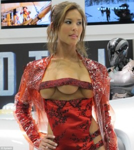 Kaitlyn Leeb as the three boobed prostitute from Total Recall at San Diego Comic-con