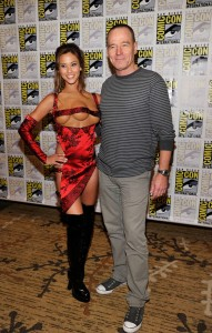 Kaitlyn Leeb with Bryan Cranston at SDCC 2012