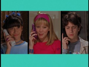 Lizzie McGuire - Miranda, Lizzie and Gordo on the phone