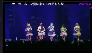 Momoiro Clover Z singing the new Sailor Moon theme song