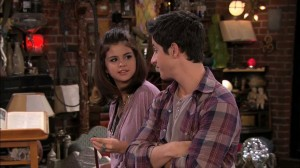 Wizards of Waverly Place - Selena Gomez as Alex Russo and David Henrie as Justin Russo