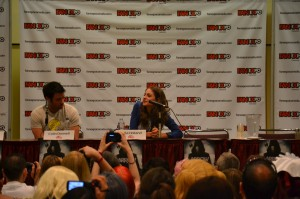 Arrow panel at Fan Expo - the lovely Willa Holland