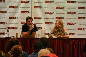 Billy Burke and Tracy Spiridakos at the Revolution Q&A at Fan Expo