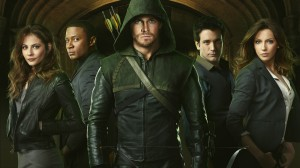 The cast of Arrow