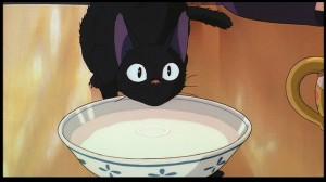 Kiki's Delivery Service - Jiji drinking milk