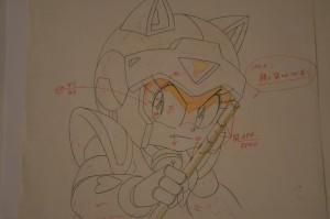 Samurai Pizza Cats - Polly Esther pencil sketch