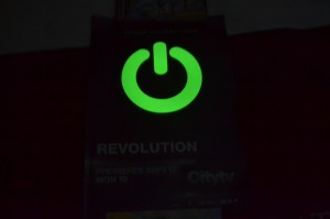 Revolution poster glowing