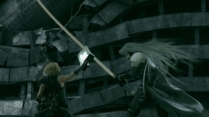 Final Fantasy VII: Advent Children - Cloud fighting Sephiroth