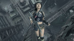 Final Fantasy VII: Advent Children - Yuffie flipping