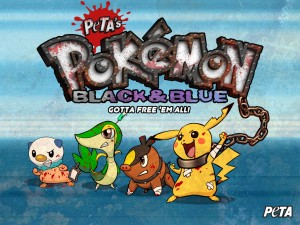 PETA's Pokémon Black and Blue