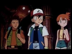 Pokémon The First Movie - Brock, Ash and Misty
