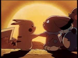 Pokémon The First Movie - Pikachu's Vacation - Pikachu makes peace with Snubull