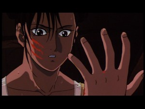 Street Fighter II: The Animated Movie - Chun-Li cut by Vega
