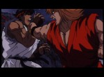 Street Fighter II: The Animated Movie - Ryu getting punched by Ken