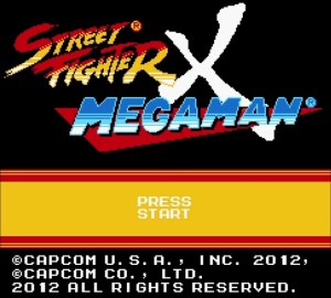 Street Fighter X Mega Man title screen