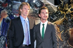 Michael Bay and Shia LaBeouf in Transformers