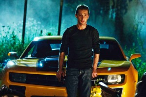 Shia LaBeouf as Sam Witwicky with Bumblebee
